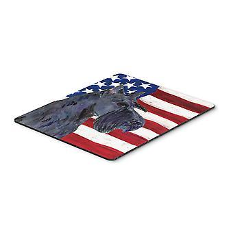 スコティッシュ ・ テリア マウス パッド、熱パッドまたは五徳米国アメリカの国旗