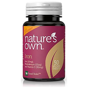 Natures Own Food State Iron, 50 Tabs