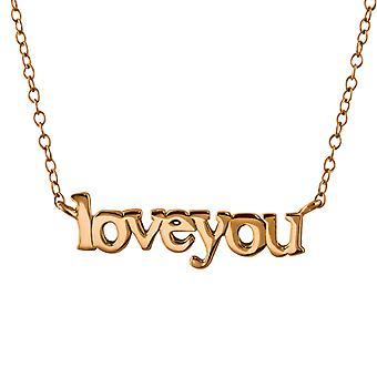 Elsker du Inline - 925 Sterling Sølv Plain halskæder - W22372X