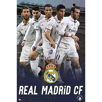 Real Madrid 2016-2017 Group Action Poster Poster Print