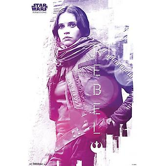 Star Wars Rogue One - Rebel - 22x34 Poster Poster Print