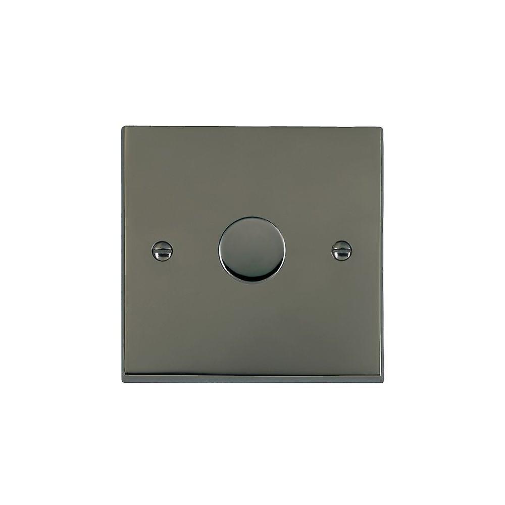 Hamilton Litestat Cheriton Victorian noir Nickel 1g 600W 2 Way Dimmer BK