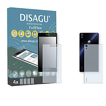 Huawei Ascend P7 front + back screen protector - 2 DISAGU FullFlex protector (1 front / 1 rear)