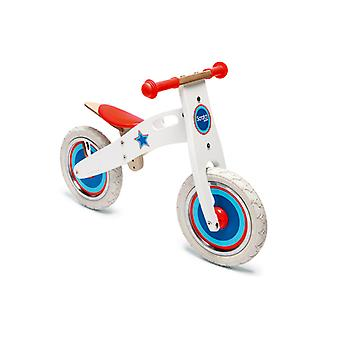 Scratch-Balance Bike Large-White With Star