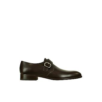 Fratelli Rossetti men's 2159288322 brown leather monk shoes