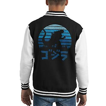 Godzilla Kaiju Sunset Kid's Varsity Jacket