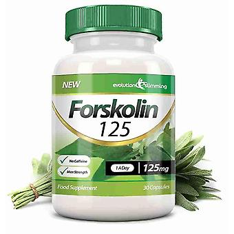 Forskolin 125 125mg Capsules - 30 Capsules - Fat Burner and Metabolism Booster - Evolution Slimming