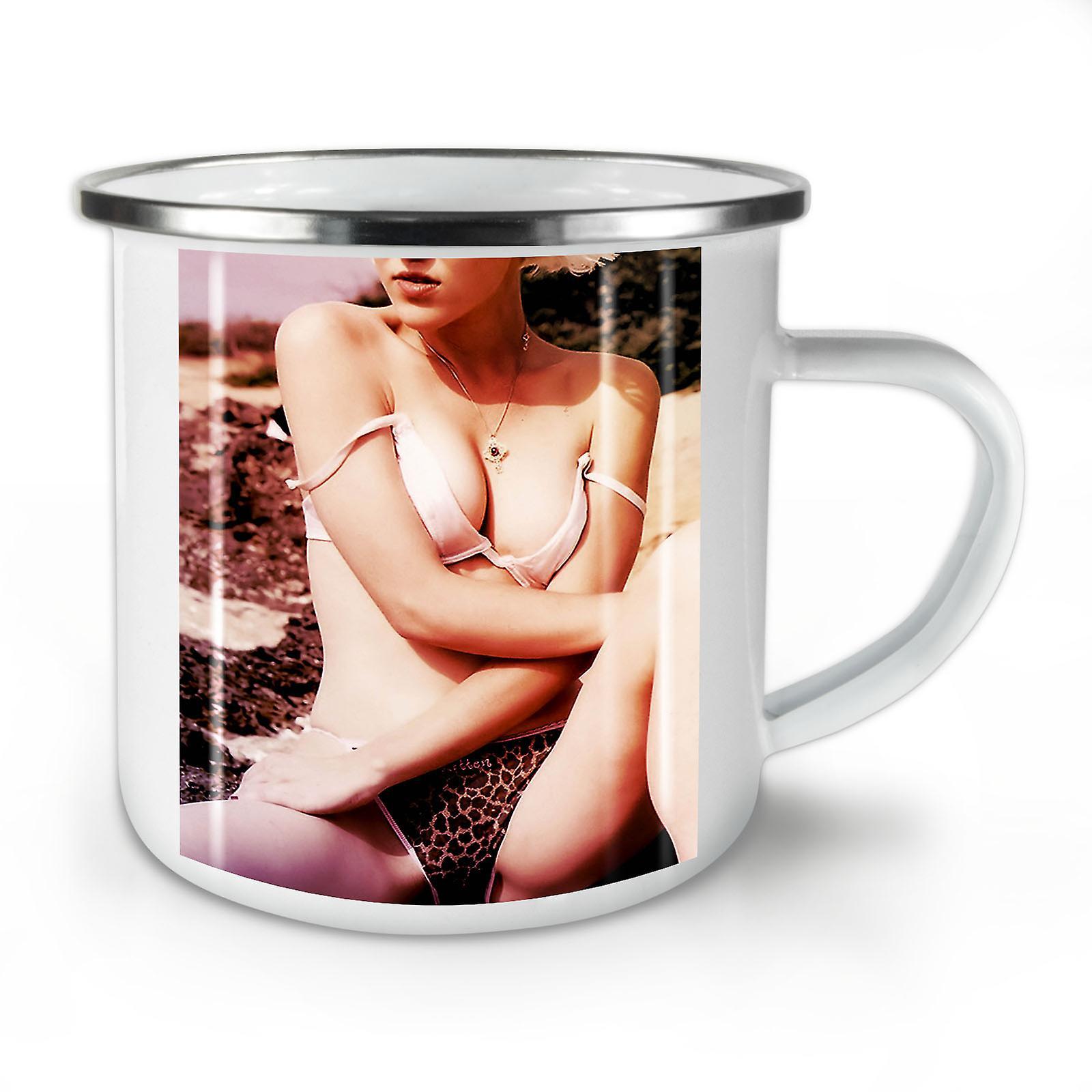 Mug10 Nouveau Fille OzWellcoda Whitetea Érotique Nue Sexy Émail Café 5jq4R3AL