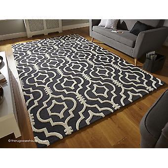 Marokko houtskool tapijt