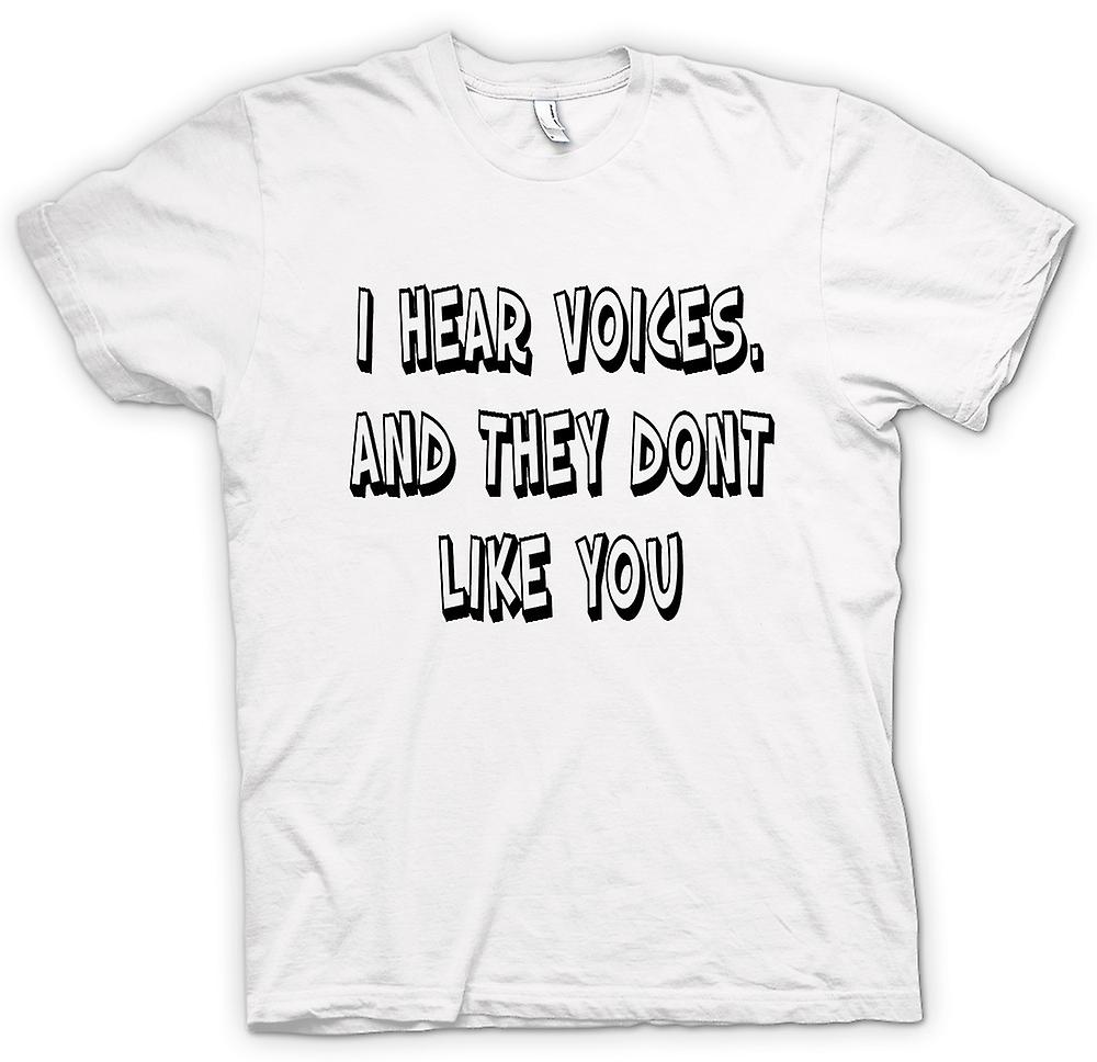 Mens T-shirt - I Hear Voices - Sixth Sense