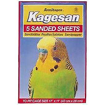 Kagesan Sanded Sheets for Birds Cage