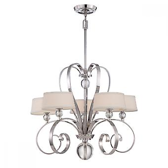 Imperial Silver 5lt Chandelier - 5 x 3.5W LED G9, 320Lm, 3000k