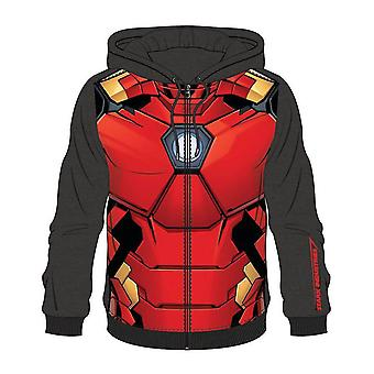 Bioworld Mens Marvel Comics Iron Man Sublimation Full Length Zipper Hoodie M