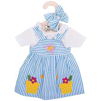 Bigjigs Toys Striped Rag Doll Dress (38cm) Soft Ragdoll Outfit