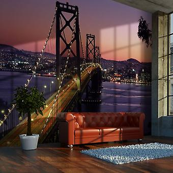 Wellindal Wallpaper Charming evening in San Francisco (Decoration , Vinyls)