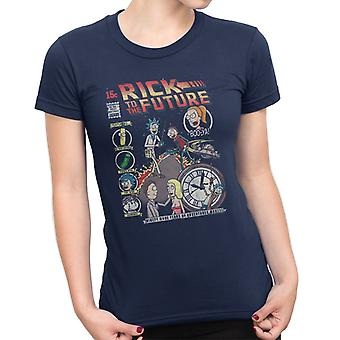 Rick And Morty Back To The Future Mix Women's T-Shirt