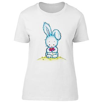 Easter Bunny Holding Flower Tee Women's -Image by Shutterstock