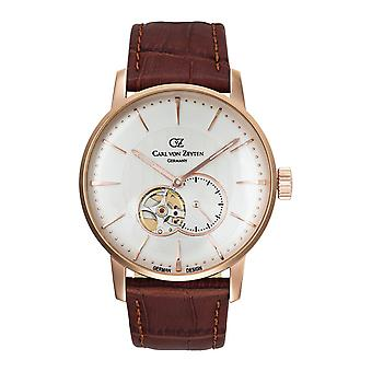 Carl of Zeyten men's watch wristwatch automatic Brigach CVZ0022RWH