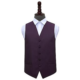 Cadbury Purple Greek Key Wedding Waistcoat