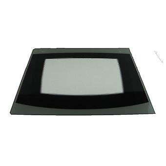 Indesit Outer Oven Door Glass with Silver/Black Trim