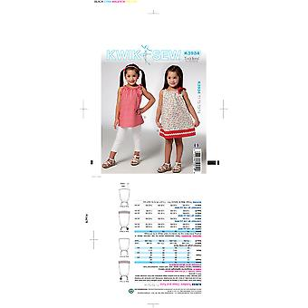 Toddlers' Dress & Tunic-T1-T2-T3-T4 -*SEWING PATTERN*