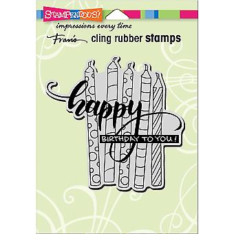 Stampendous Cling Stamp-Candle Wish