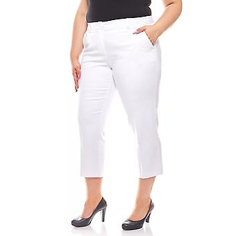 sheego ladies business pant in 7/8 length plus size White