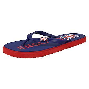 Pojkar plats på Union Jack Flip Flops N0023