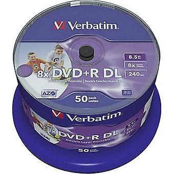 Blank DVD+R DL 8.5 GB Verbatim 43703 50 pc(s) Spin