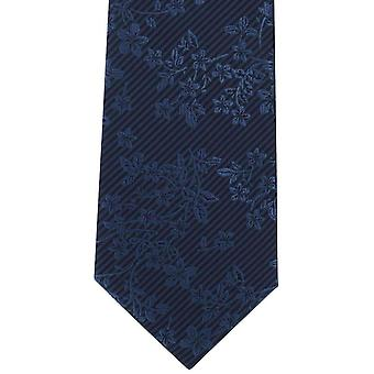 Michelsons of London Tonal Floral Polyester Tie - Blue