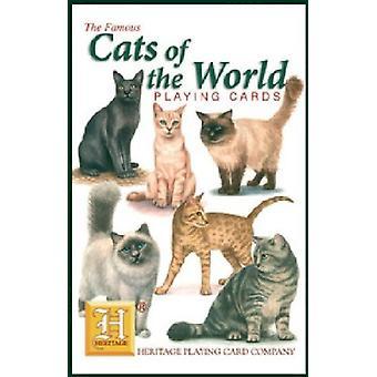 Katten van de wereld ingesteld van 52 speelkaarten (+ Jokers)