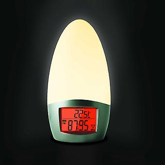 TFA alarm clock radio wake-up lamp quartz simulated Sunrise