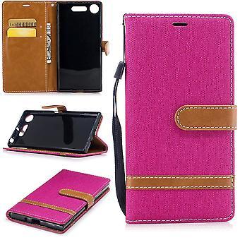 Funda para Sony Xperia XZ1 jeans celular protector funda rosa