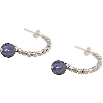 السيدات-أقراط-925-حلقة-البنفسجي الأزرق-3 سم