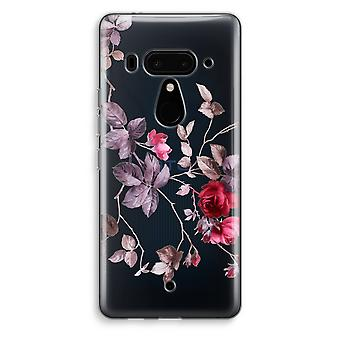 HTC U12+ Transparent Case - Pretty flowers