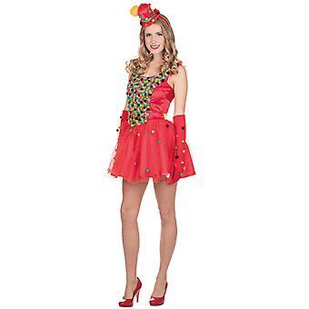 Pompon dress costume for women