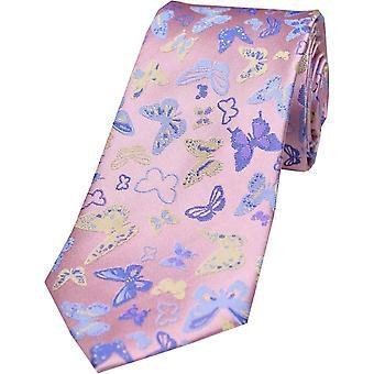 Cravatta di seta farfalle Posh e Dandy - rosa pastello