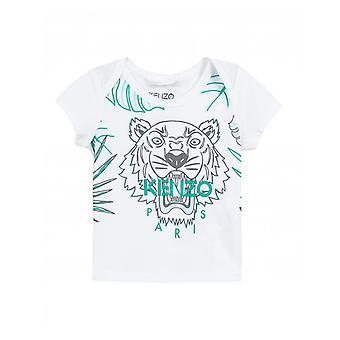 健三の子供ハワイアン タイガー プリント t シャツ