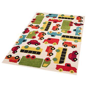 Kinderen spelen mat auto's Mason 120 x 170 cm. Tapijt kwekerij