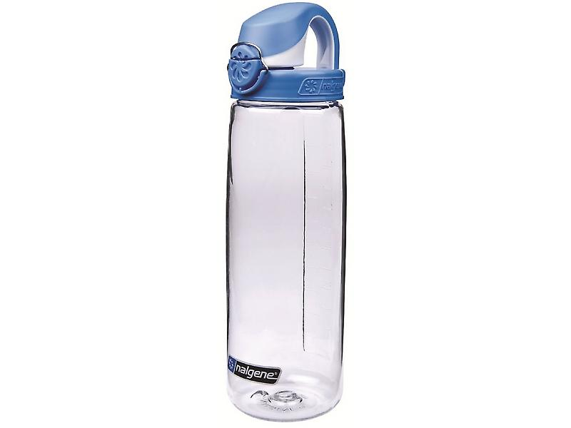 Nalgene OTF 24oz Bottle with Seaport Blue Cap (Transparent)