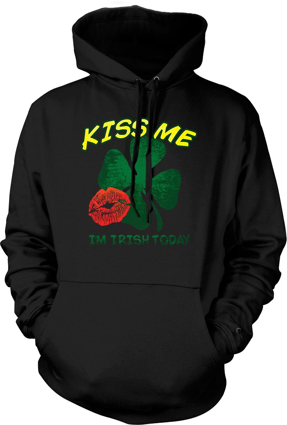 Mens Hoodie - St Patricks Day - Kiss Me I'm Irish Today