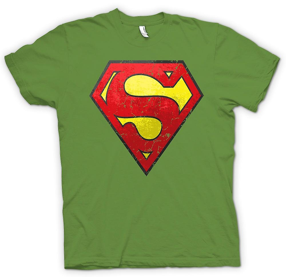Mens t-skjorte - Superman Distressed Logo - kult