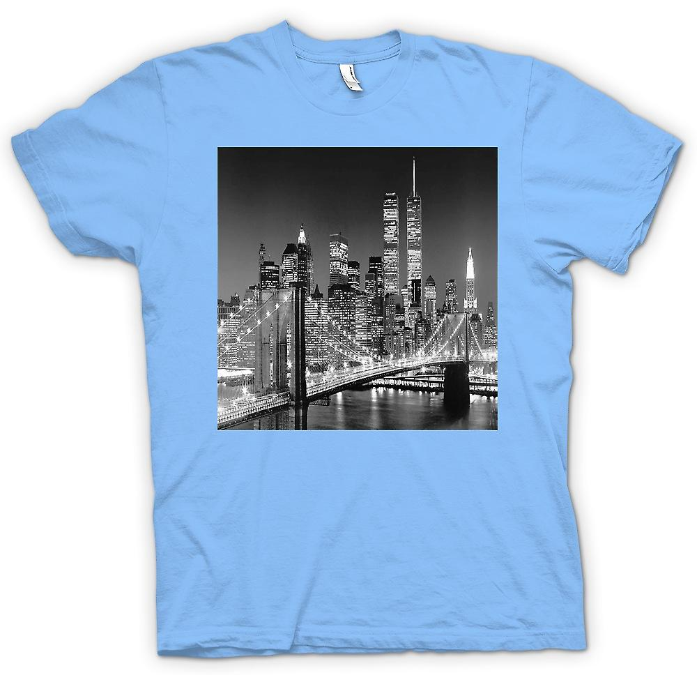 Heren T-shirt - New York Sky Line - Twin Towers