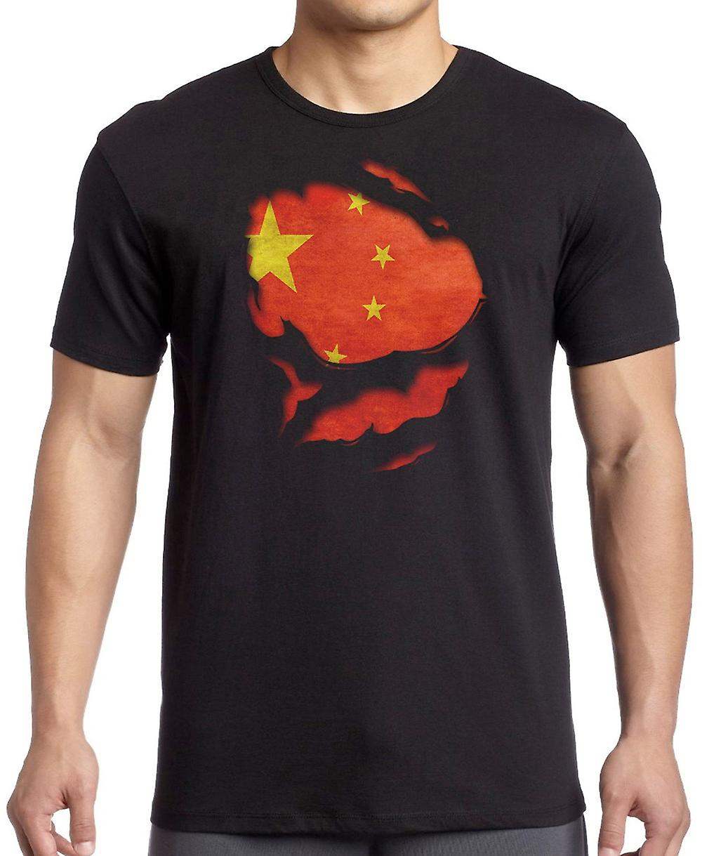 Chinese China geript Effect onder Shirt Kids T Shirt