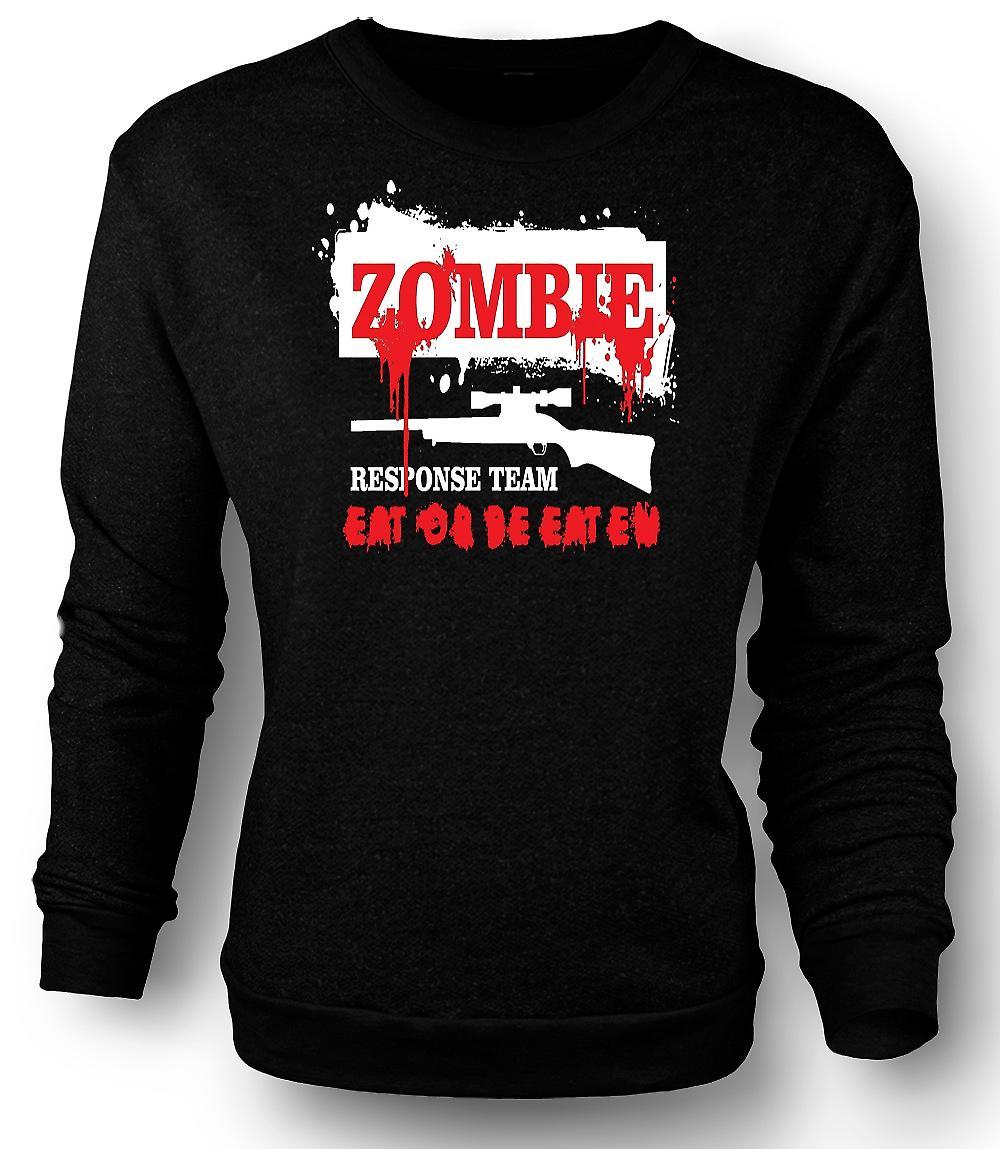 Mens Sweatshirt Zombie Response Team - Funny