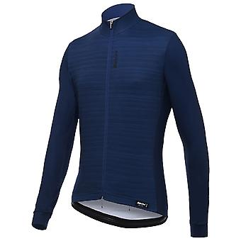 Santini Blue 365 Classe Long Sleeved Cycling Jersey