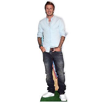 Recorte de cartón de David Beckham Lifesize / pie / pie