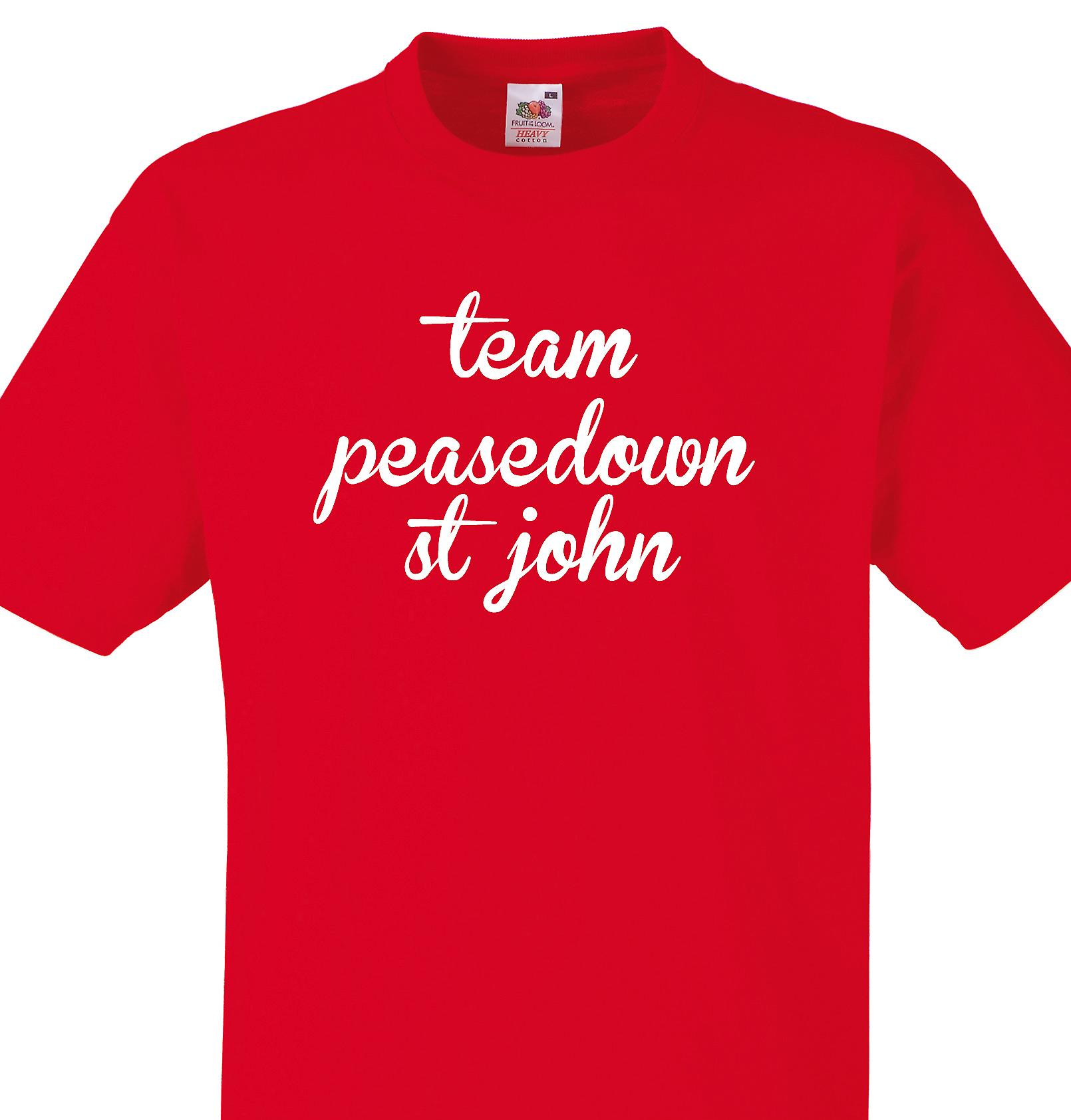 Team Peasedown st john Red T shirt