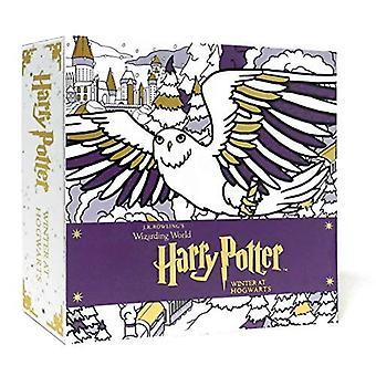 Harry Potter: Vinter på Hogwarts: en magisk färga satt (JK Rowlings Wizarding världen)