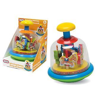 CZAS zabawy malucha Baby Merry kręcić przędzenia konie Spin Top Kids nauka zabawka